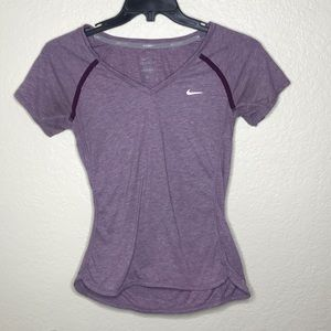 Nike run dri fit purple women's t-shirt